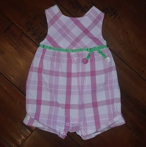 Gymboree girls Like New Cherries Sun Romper 3-6mo